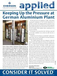 Keeping up the pressure in German aluminium plant - Emerson ...