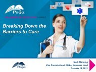 Breaking Down the Barriers to Care - Pegasystems Inc.