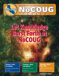 Statistics—How and When? Become a Rock Star DBA ... - NoCOUG