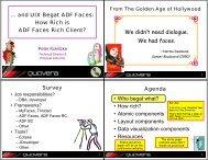 How Rich is ADF Faces Rich Client? - NoCOUG