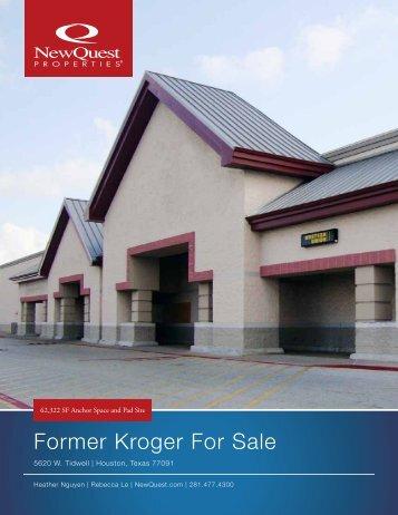 Former Kroger For Sale - NewQuest Properties