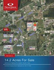 14.2 Acres For Sale - NewQuest Properties