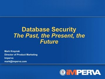 Database Security - the Past, the Present, the Future - NoCOUG