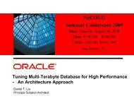 Tuning Multi-Terabyte Database for High Performance ... - NoCOUG
