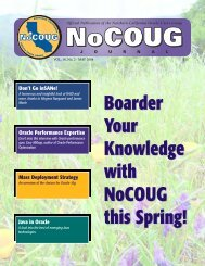 Profiling Oracle Performance Expertise - NoCOUG