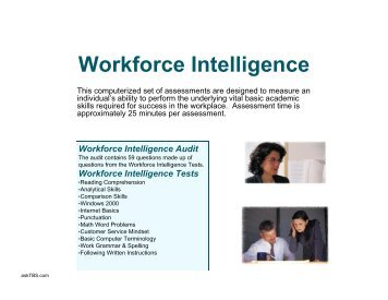 Workforce Intelligence Tests