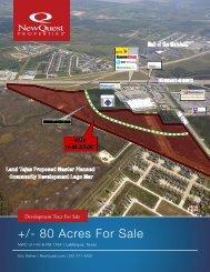 +/- 80 Acres For Sale - NewQuest Properties