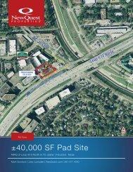 ±40,000 SF Pad Site - NewQuest Properties