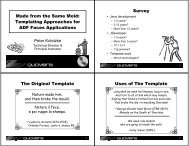 Made from the Same Mold: Templating Approaches for ... - NoCOUG