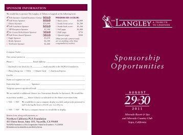Sponsorship Opportunities - Silverado Country Club