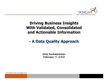 A Data Quality Approach