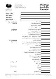 Web Page Useability Checklist