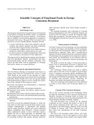 Scientific Concepts of Functional Foods in Europe Consensus ...