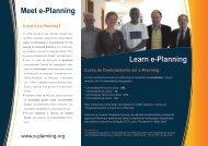 Curso de Doutoramento em e-Planning - LabTec-CS
