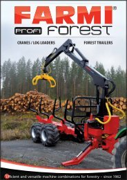 CRANES / LOG LOADERS FOREST TRAILERS - Farmi Forest