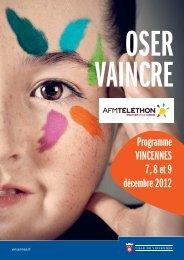programme des animations Téléthon 2012 à Vincennes (pdf - 659 ...