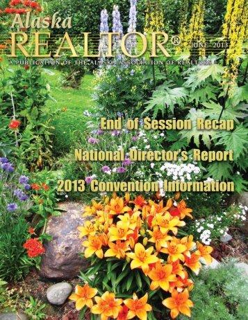 2013 June Newsletter - Alaska Association of Realtors