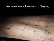 Purchase Orders and Invoices - iMAG