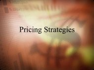 Pricing Strategies - iMAG