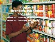 Branding, Packaging, and Labeling Branding, Packaging ... - iMAG