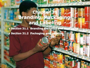 Branding, Packaging, and Labeling Branding, Packaging ... - iMAG