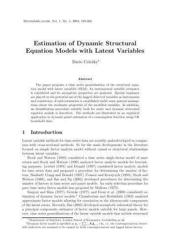 Estimation of dynamic structural equation models with latent variables