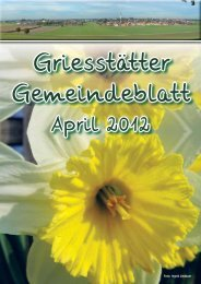 Gemeindeblatt April 2012  - Griesstätt