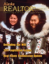 2011 February Newsletter - Alaska Association of Realtors
