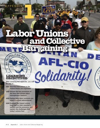 Appendix 1: Labor Unions and Collective Bargaining