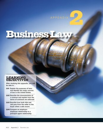 Appendix 2: Business Law