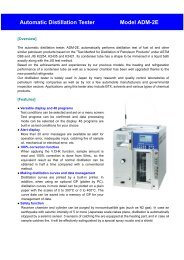 Automatic Distillation Tester Model ADM-2E - Xebex.jp