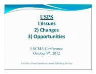 U.S. Postal Service – Changes, Issues & Opportunities - I-SCMA