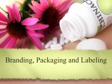 Branding, Packaging and Labeling - iMAG