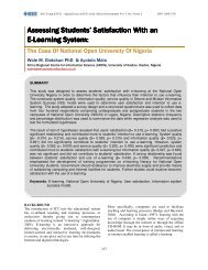 Satisfaction With an E-Learning System - IEEE Afr J Comp & ICTs
