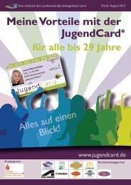 Meine Vorteile mit der JugendCard* - Jugendcard BGL