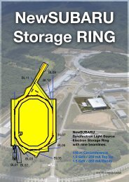 NewSUBARU Synchrotron Light Source Electron Storage Ring with ...