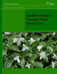Southern Ontario Vascular Plant Species List - Conservation Ontario