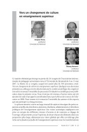 Vers un changement de culture en enseignement ... - Thierry Karsenti