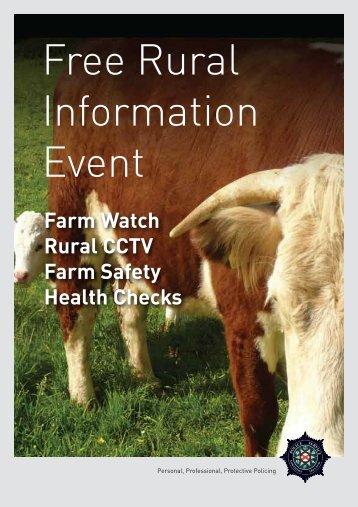 PD1332-12 Farm Watch rural event Flyer A5