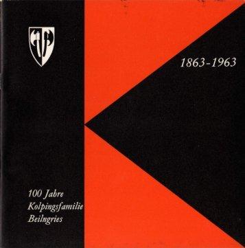 Kolping Festschrift 1963 - Kolpingsfamilie Beilngries