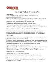 Preparing for the Career & Internship Fair