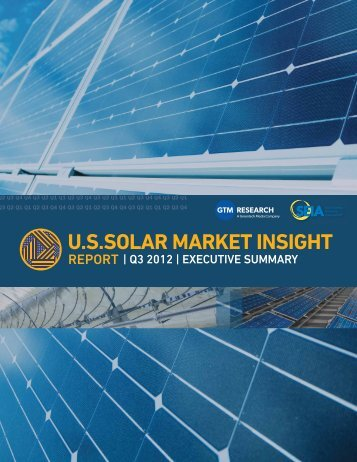 US Solar Market Insight - Q3 2012 - Executive Summary - Alta Energy