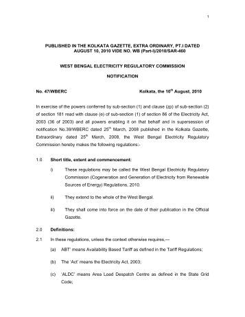 west bengal electricity Order of the west bengal electricity regulatory commission for the years 2014 – 2015, 2015 – 2016 and 2016 – 2017 in case no: tp – 58 / 13 – 14.