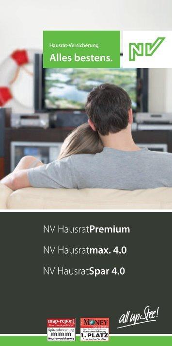 hausratmax. 4.0 - NV Versicherung