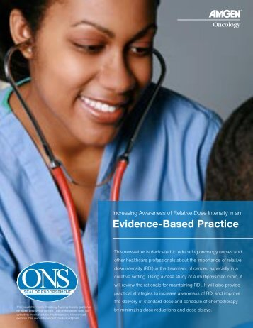 Evidence-Based Practice - ONS:Edge