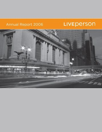 Annual Report 2006 - LivePerson