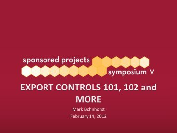 Export Controls - University of Minnesota