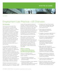 Employment Law Practice—US Overview - White & Case