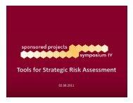 Tools for Strategic Risk Assessment Presentation - Sponsored ...