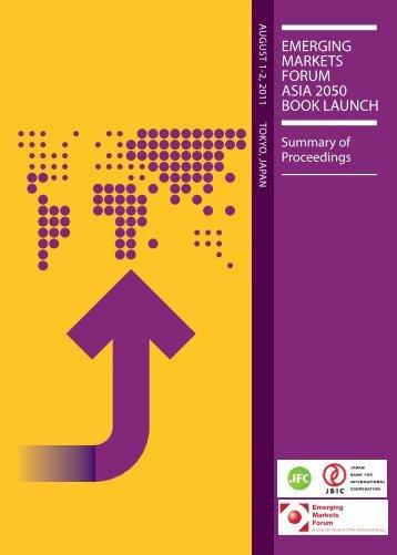 Tokyo proceedings.pdf - Emerging Markets Forum
